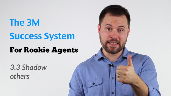 Cover image of video lesson - 3M Success System for rookie estate agents - Making sure you're ready - Shadow others